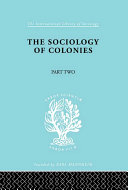 The Sociology of Colonies  Part 2