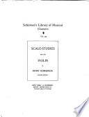 Scale Studies for the Violin
