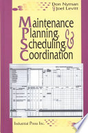 Maintenance Planning  Scheduling  and Coordination