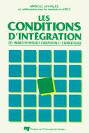 Pdf Les conditions d'intégration des enfants en difficultés d'adaptation et d'apprentissage Telecharger