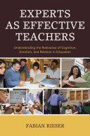 Experts as Effective Teachers