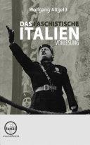 Vorlesung: Das faschistische Italien