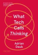 What Tech Calls Thinking Pdf/ePub eBook
