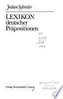 Lexikon deutscher Präpositionen