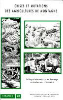 Crises et mutations des agricultures de montagne