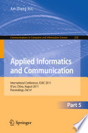 Applied Informatics and Communication  Part V