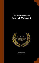 The Western Law Journal Volume 4