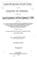 Annotated Statutes of the State of Indiana