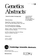 Genetics Abstracts