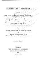 Elementary Algebra for the Use of Preparatory Schools
