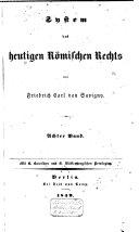 System des heutigen römischen Rechts