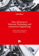 New Advances In Vehicular Technology And Automotive Engineering Book PDF
