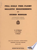 Full scale Free flight Ballistic Measurements of Guided Missiles Book