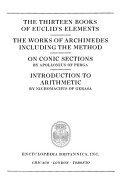 Great Books of the Western World  Euclid  Archimedes  Appollonius of Perga  Nicomachus