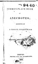 The Common place Book of Anecdotes