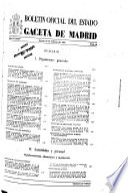 Boletín oficial del estado: Gaceta de Madrid