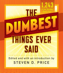 Pdf The Dumbest Things Ever Said