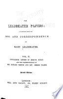 The Leadbeater Papers, A Selection from the Mss. and Correspondence of Mary Leadbeater by Mary Leadbeater PDF