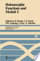 Holomorphic Functions And Moduli I