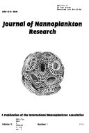 Journal Of Nannoplankton Research Book PDF