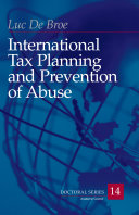 International Tax Planning and Prevention of Abuse