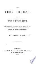 The True Church  Etc Book