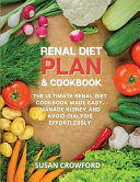 Renal Diet Plan   Cookbook