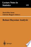 Robust Bayesian Analysis