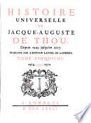 Histoire Universelle de Jacque Auguste De Chow, 5 Pdf/ePub eBook