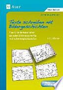 Texte schreiben mit Bildergeschichten 1.-2. Klasse  : Plus Arbeitsmaterialien zu jeder Bildergeschichte in 2 Schwierigkeitsstufen , Bände 1-2