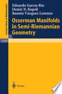 Osserman Manifolds In Semi Riemannian Geometry