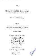 The Public Ledger Building  Philadelphia