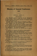 Minutes of General Conference