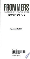 Frommer's Guide to Boston, 1995