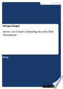 Survey on Cloud Computing Security Risk Assessment Book