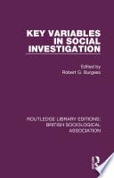 Key Variables in Social Investigation
