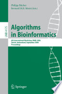Algorithms In Bioinformatics Book PDF