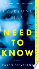 Need to Know Karen Cleveland Cover