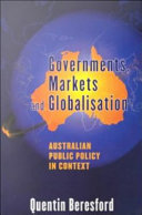 Governments, Markets and Globalisation: Australian Public ...