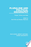 Pluralism and Political Geography  : People, Territory and State