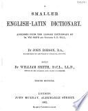 A Smaller English Latin Dictionary