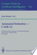 Automated Deduction, Cade-12.
