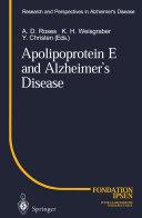 Pdf Apolipoprotein E and Alzheimer's Disease Telecharger