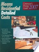 Means Residential Detailed Cost  : Contractor's Pricing Guide ...