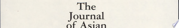 THE JOURNAL OF ASIAN STUDIES  VOL  55 NO  2