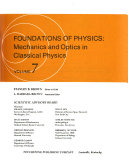 The Realm of Science  Foundations of physics  mechanics and optics in classical physics