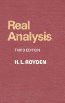 Real Analysis - H  L  Royden - Google Books