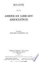 ALA bulletin  , Volumes 5-6