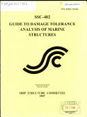 Guide to Damage Tolerance Analysis of Marine Structures