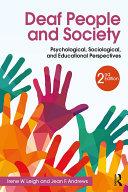Deaf People and Society Pdf/ePub eBook